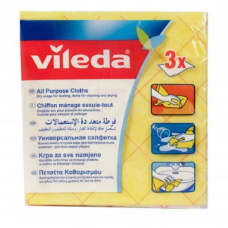 Vileda All Purpose Cloth 3 pcs